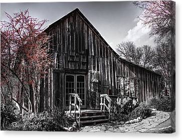 Fine Art America Pic 138 Greune Texas Black And White Canvas Print by Darrell Taylor
