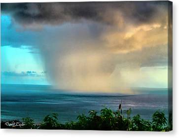 Pool In Cave Canvas Print - Fine Art America Pic 150 Storm In Kauai by Darrell Taylor