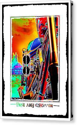 Fine Art Chopper I Canvas Print by Mike McGlothlen