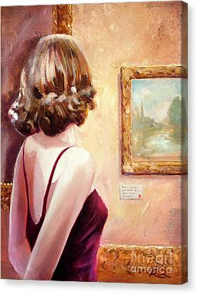 Fine Art Gallery Opening Night Canvas Print