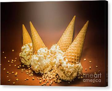 Fine Art Ice Cream Cone Spill Canvas Print
