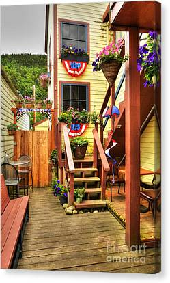 Fine Art In Skagway 3 Canvas Print by Mel Steinhauer