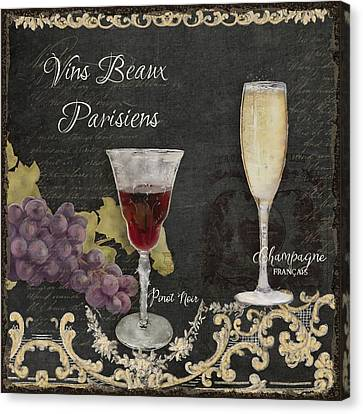Fine French Wines - Vins Beaux Parisiens Canvas Print by Audrey Jeanne Roberts