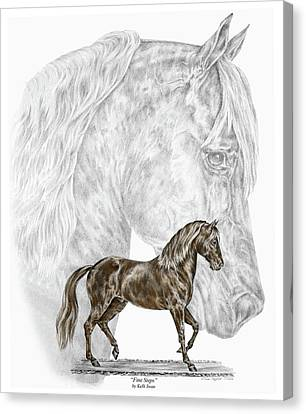 Fine Steps - Paso Fino Horse Print Color Tinted Canvas Print by Kelli Swan