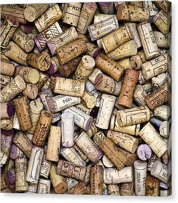 Fine Wine Corks Square Canvas Print