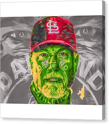 Sports Canvas Print - #fineart #art #bigmac #markmcguire by David Haskett