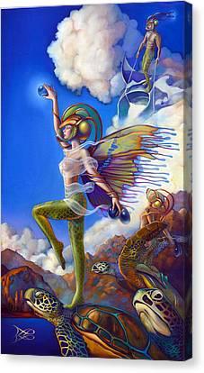 Finfaerian Quest Canvas Print by Patrick Anthony Pierson