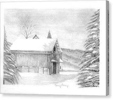Finger Lake Barn Canvas Print by Kerry Facey