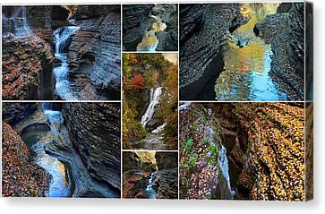 Finger Lakes Gorges Collage Canvas Print