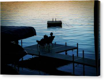 Finger Lakes New York Enjoying The Sunset 01 Canvas Print by Thomas Woolworth