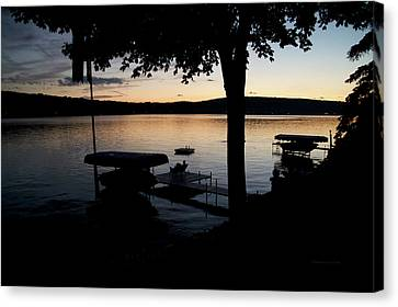 Finger Lakes New York Enjoying The Sunset 02 Canvas Print by Thomas Woolworth