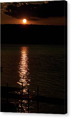 Finger Lakes New York Sunset 04 Vertical Canvas Print by Thomas Woolworth
