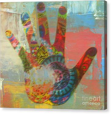 Finger Paint Canvas Print by Kelly Awad