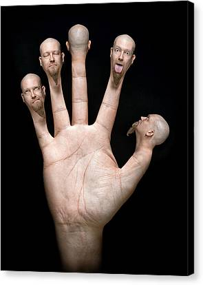 Finger Puppets Canvas Print by Petri Damsten