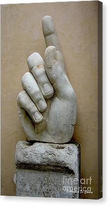 Finger -rome Canvas Print by Italian Art