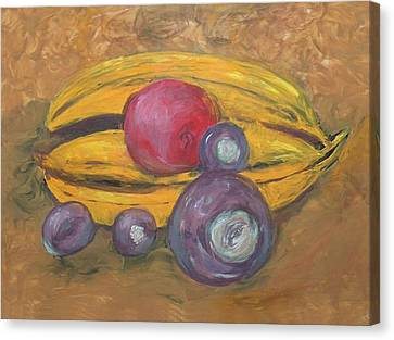 Fingerpainted Fruit Canvas Print