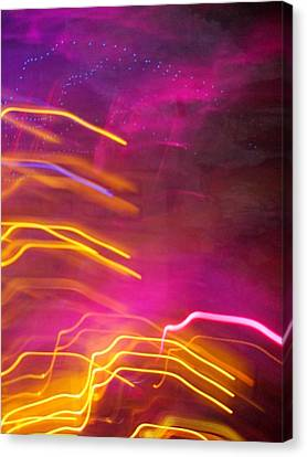 Fingers Of Light Canvas Print by Lessandra Grimley