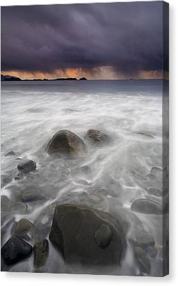 Fingers Of The Storm Canvas Print by Mike  Dawson