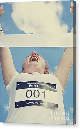 Finish Line Frontrunner Canvas Print