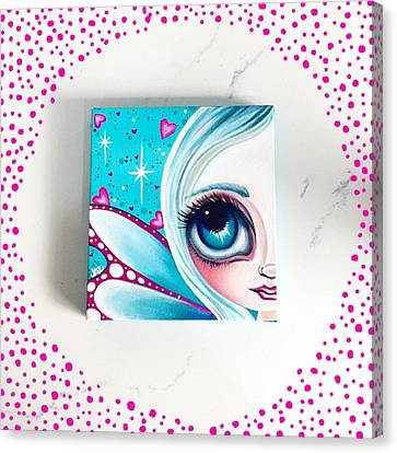 Fantasy Canvas Print - Finished! Little 6x6 Painting by Jaz Higgins