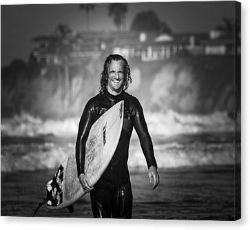 Finished Surfing Canvas Print by Brian Jones