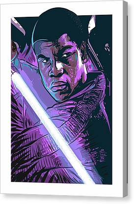 Canvas Print featuring the digital art Finn by Antonio Romero