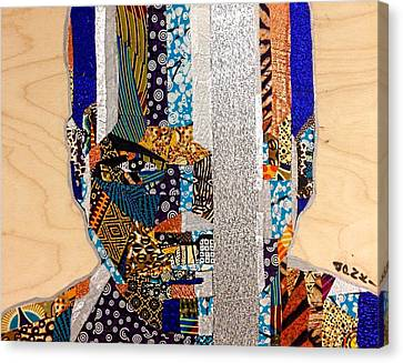 Canvas Print featuring the tapestry - textile Finn Star Wars Awakens Afrofuturist  by Apanaki Temitayo M