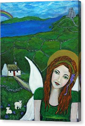 Fiona An Irish Earthangel Canvas Print by The Art With A Heart By Charlotte Phillips