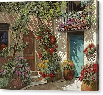 Fiori In Cortile Canvas Print