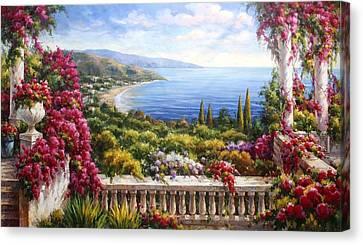 Fiori Sul Lago Di Como Canvas Print by Lucio Campana