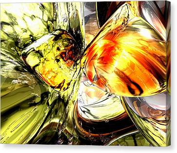 Swirling Desires Canvas Print - Fire And Desire Abstract by Alexander Butler