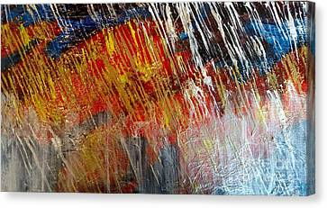 Fire And Ice Canvas Print by Lori Jacobus-Crawford