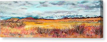 Fire And Ice Canvas Print by Lucinda  Hansen