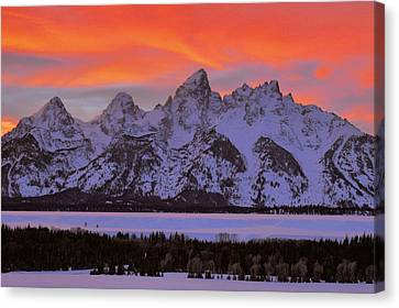 Fire And Ice Canvas Print by Stephen  Vecchiotti