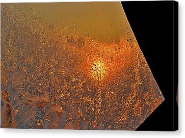 Canvas Print featuring the photograph Fire And Ice by Susan Capuano