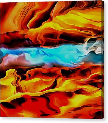 Fire And Ice Canvas Print by Tracey Harrington-Simpson