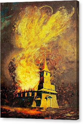 Fire Angel Canvas Print