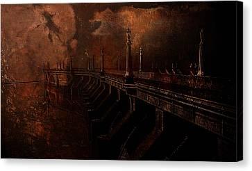 Fire At Diablo Canvas Print by Jeff Burgess