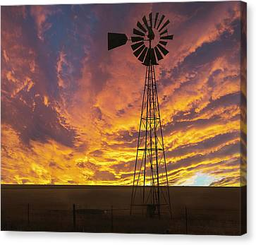 Fire At The Ranch Canvas Print