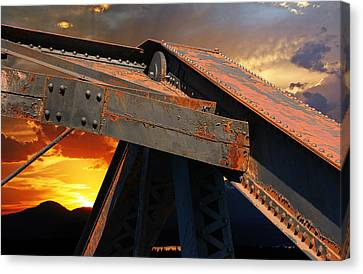 Fire Bridge Canvas Print by Melvin Kearney