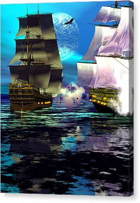 Fire Canvas Print by Claude McCoy