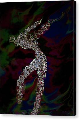 Canvas Print featuring the photograph Fire Dancer by Irma BACKELANT GALLERIES