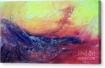Fire Dragon Canvas Print by David Ackerson