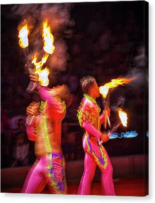 Canvas Print - Fire Eaters by Ron Morecraft
