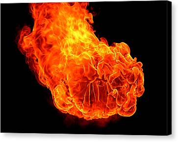Fire Canvas Print by Emanuel Tanjala
