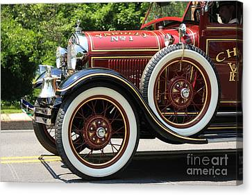 Canvas Print featuring the photograph Fire Engine Red 2 by Nicola Fiscarelli
