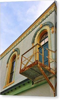 Fire Escape Canvas Print by Jan Amiss Photography