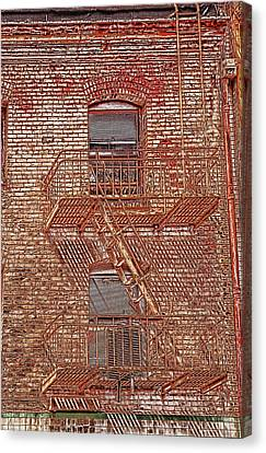 Canvas Print featuring the photograph Fire Escape by Marie Leslie