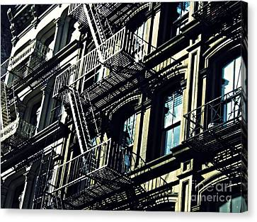 Fire Escape On Franklin Street 2 Canvas Print