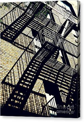 Fire Escape Canvas Print by Sarah Loft